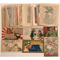 Lot of 60 Pioneer Postcards Russo-Japanese War 1904-05  (116389)