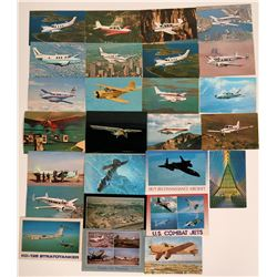 Lot of 27 International Modern Airplane Postcards  (116593)