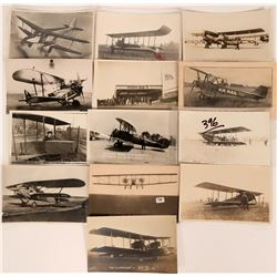 13 Early Worldwide Bi-plane RPC Pioneer Postcards  (116609)