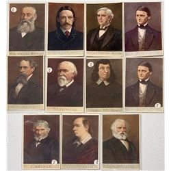 "Eleven Tuck ""Men of Letters"" Postcards Depicting Famous Authors  (111627)"