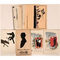 Group of 15 Silhouette Postcards  (111585)