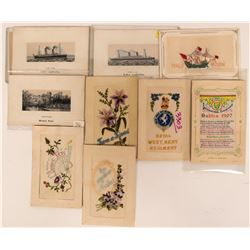 Lot of 11 International Novelty Postcards with Cloth Interiors  (116619)