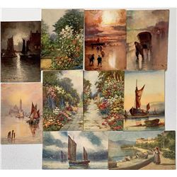 Nice Group of Tuck Art Cards (11) - Oilette Series  (111626)