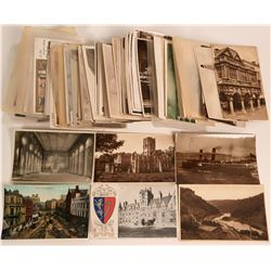 Over 200 RPC and Litho Pioneer Postcards from England  (116340)