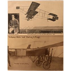 Two Early Aviation Pioneer Postcards Graham-White Aviator  (116607)