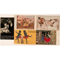 A Group of Five African American Ad Postcards  (116115)