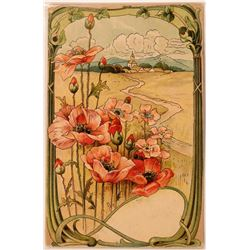 Beautiful Floral Art Card From Unknown Artist  (111572)