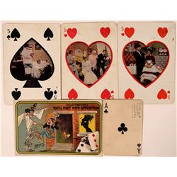 Playing Card Postcard Group (5)  (110359)