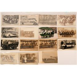 Real Photo Postcards of Early Auto Tours  (113131)