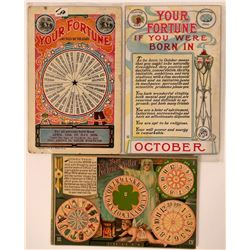 Set of 3 Fortune Teller Postcards c. 1910  (110356)