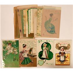 St. Patrick's Day Postcards, 1898-1905 (14) Includes Two from A. Heinmuller  (111586)