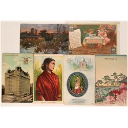 Tea & Coffee Advertising Postcards  (116119)