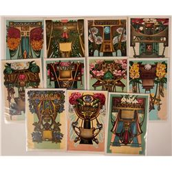 Zodiac Art Postcards Set of 11 Different Months, Renz, Artist  (110357)