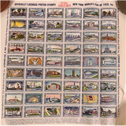 New York World's Fair Poster Stamp Sheet  (115327)