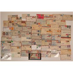 Stamps: Postal Air Mail - Cancelled air mail from Central America - Mexico, Belize, Guatalmala, Hond