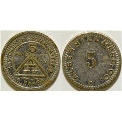 Alberhill Mercantile Company Token  (115754)