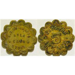E. S. Phillipps Cash Store Token  (115753)