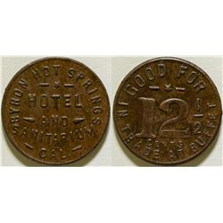 Byron Hot Springs Hotel Token  (115760)