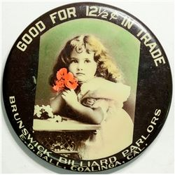 Brunswick Billiard Parlors Advertising Mirror  (114328)