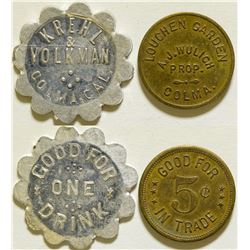Two Colma Tokens  (115645)