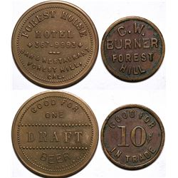 Forest House Hotel/ C. W. Burner Tokens  (115478)