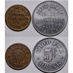 Bowling Alley Saloon Tokens  (116535)