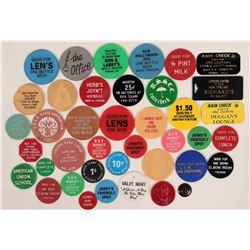 Fresno Plastic Token Collection  (116510)