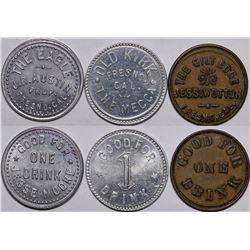 Fresno Whiskey Tokens  (116537)