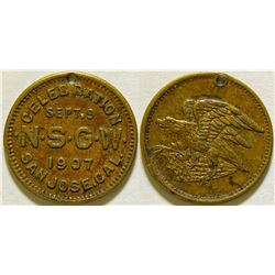 Native Sons of the Golden West Token  (116018)