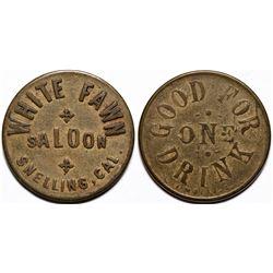 White Fawn Saloon Token  (115584)