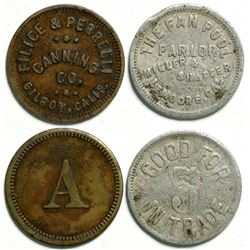 Two California Trade tokens  (114430)