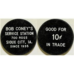 Bob Coney's Service Station Token  (115640)