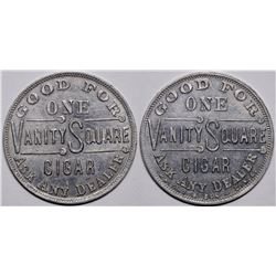 Vanity Square Cigar Token  (116506)