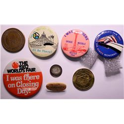 World's Fair Tokens & Pinbacks  (109022)