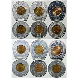 Six Encased Pennies  (114829)