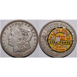 Morgan Dollar with Advertising Decal  (116534)
