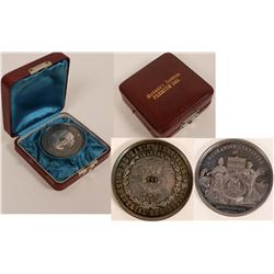 Mechanics Institute Silver Coin Award Woodward's Gardens  (117263)