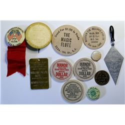 Northern California Medals Pinbacks and  Wooden Nickels  (114742)