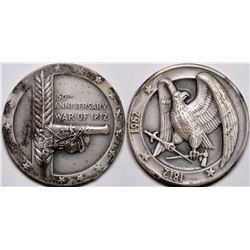 150th Anniversary of the War of 1812 Sterling Silver Medal  (116488)