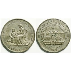 Susanna Wesley Teaching Her Son John Medal  (114622)