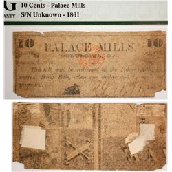 Palace Mills 10 cent note  (59548)