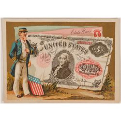 Parisian U.S. Currency Advertising Card  (115411)