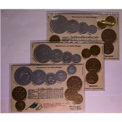Coin Post Cards Spain and Portugal  (114724)