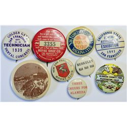 Bay Area Pinback Collection  (114812)