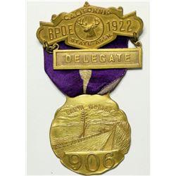 B.P.O.E. Delegate Badge  (114995)