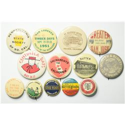 Antique California Pinback Collection  (114819)