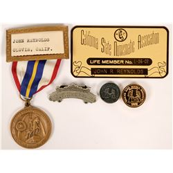 John Reynolds Personal Numismatic Badges  (115403)