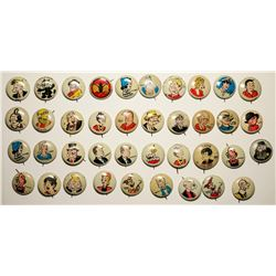 "Kellogg ""Pep"" Comic Pinbacks Collection  (114137)"