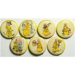 Yellow Kid Pin backs  (114329)