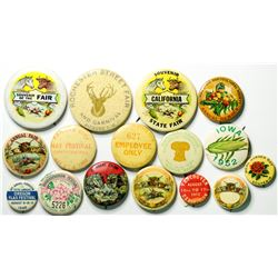 Festival and Fair Pinback Collection  (114816)